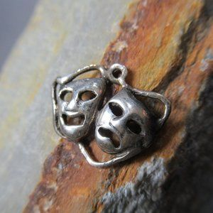 Sterling Silver Sock and Buskin Charm Theater Mask